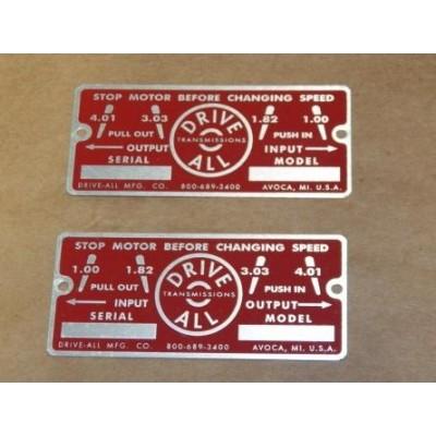 Name Plate 200/500 Set